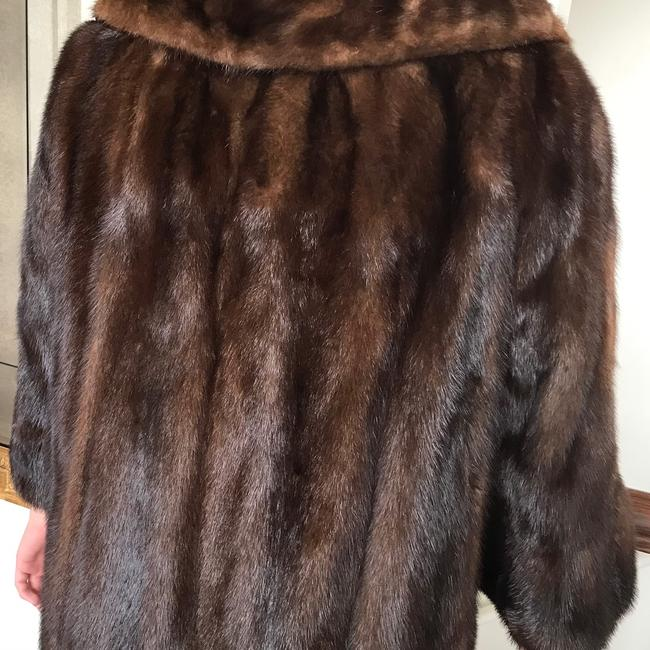 Vintage Real Mink Coat 3/4 Sleeve Fur Coat Image 5