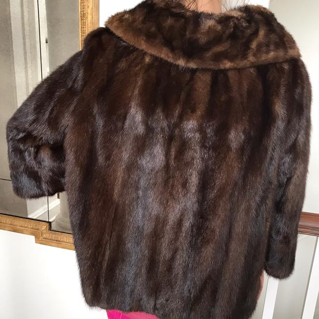 Vintage Real Mink Coat 3/4 Sleeve Fur Coat Image 6