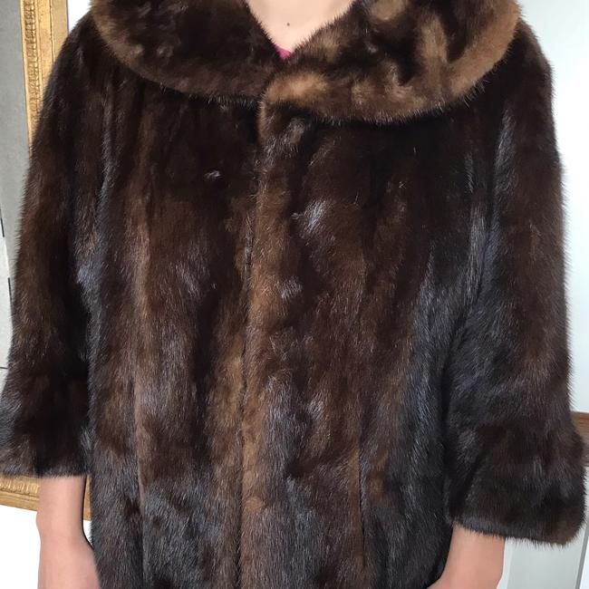 Vintage Real Mink Coat 3/4 Sleeve Fur Coat Image 8