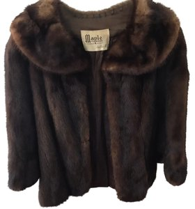 Vintage Real Mink Coat 3/4 Sleeve Fur Coat