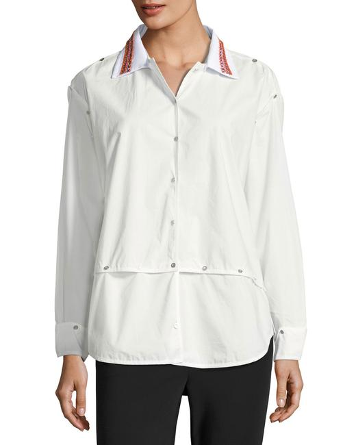 Opening Ceremony Shirt Versatile Embroidered Button Down Shirt Optic White Image 1