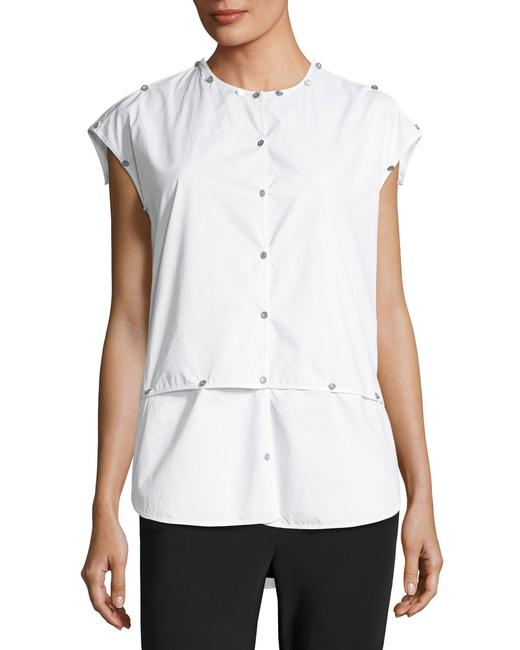 Opening Ceremony Shirt Versatile Embroidered Button Down Shirt Optic White Image 2