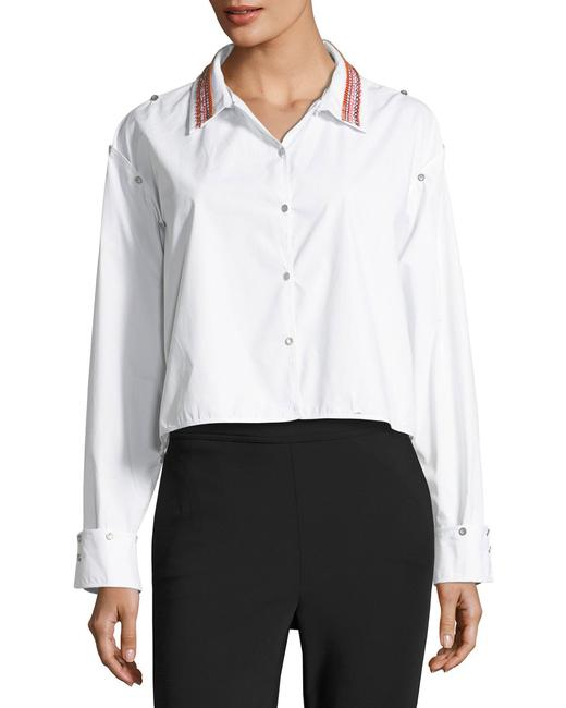 Opening Ceremony Shirt Versatile Embroidered Button Down Shirt Optic White Image 4