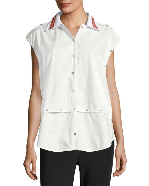 Opening Ceremony Shirt Versatile Embroidered Button Down Shirt Optic White Image 7