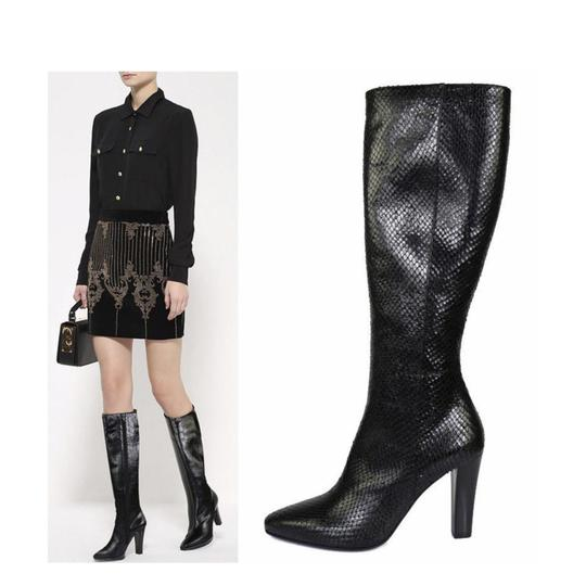 Preload https://img-static.tradesy.com/item/24295745/saint-laurent-black-new-695-lily-textured-leather-faux-snake-bootsbooties-size-eu-38-approx-us-8-reg-0-4-540-540.jpg