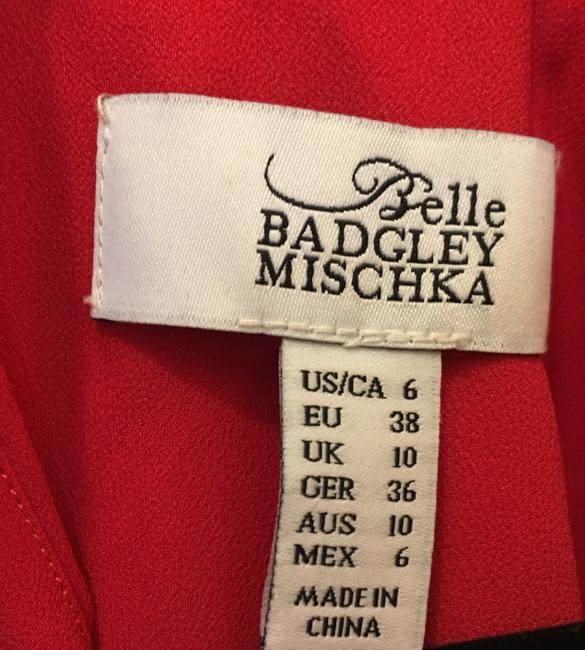 Badgley Mischka Chiffon Embroidered Applique Crystal Accents New With Tags Dress Image 4