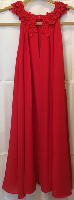 Badgley Mischka Chiffon Embroidered Applique Crystal Accents New With Tags Dress Image 6