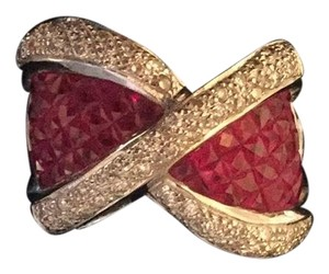 Chuck Clemency Ruby and Diamond Ring