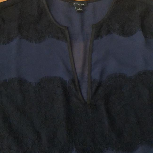 Ann Taylor Top Navy with Black Image 2