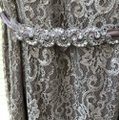 Betsy & Adam Silver Sparkle Lace with Silver Underlay. 87% Nylon 13% Mylar. Very Comfortable To Wear. Evening Gown Overlay Formal Bridesmaid/Mob Dress Size 16 (XL, Plus 0x) Image 1