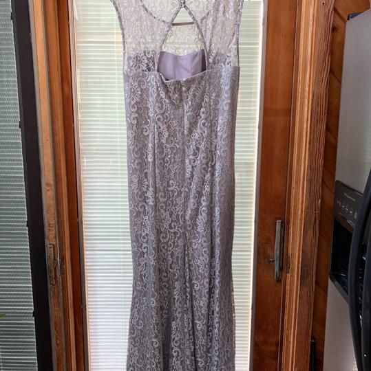 Betsy & Adam Silver Sparkle Lace with Silver Underlay. 87% Nylon 13% Mylar. Very Comfortable To Wear. Evening Gown Overlay Formal Bridesmaid/Mob Dress Size 16 (XL, Plus 0x) Image 6