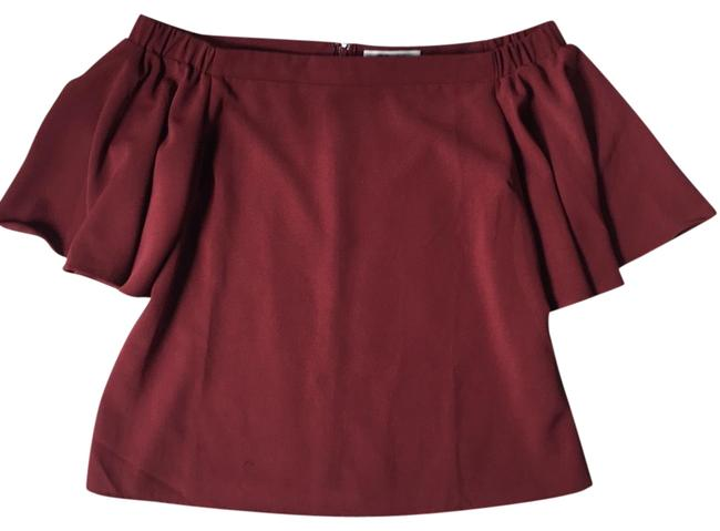 Preload https://img-static.tradesy.com/item/24295974/burgundy-off-the-shoulder-blouse-size-8-m-0-3-650-650.jpg