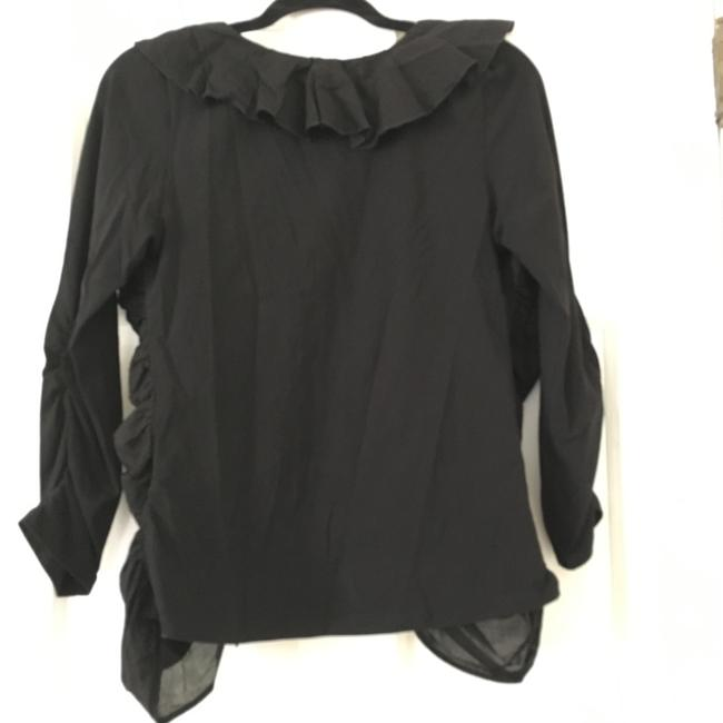 Anne Fontaine Cardigan Zippered Top Black Image 1