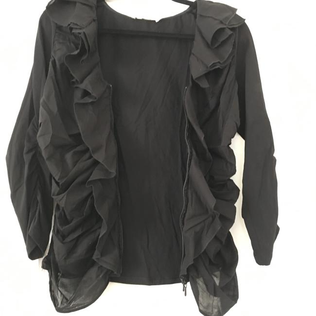 Anne Fontaine Cardigan Zippered Top Black Image 7