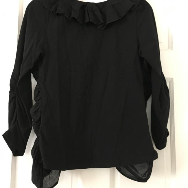 Anne Fontaine Cardigan Zippered Top Black Image 2