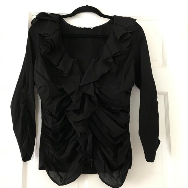 Anne Fontaine Cardigan Zippered Top Black Image 4