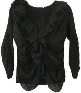 Anne Fontaine Cardigan Zippered Top Black