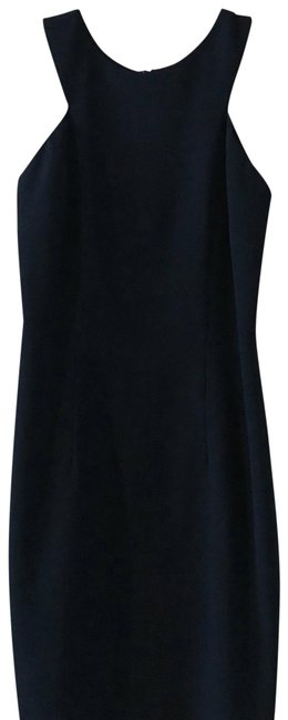 Preload https://img-static.tradesy.com/item/24296012/laundry-by-shelli-segal-black-navy-fitted-with-high-neck-line-collar-bone-exposure-short-formal-dres-0-3-650-650.jpg