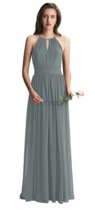 Bill Levkoff Slate Chiffon 7002 Traditional Bridesmaid/Mob Dress Size 4 (S)