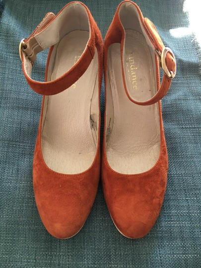 Sundance Ankle Strap Suede Nearly New rust Wedges Image 10