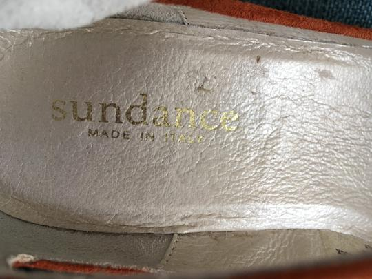 Sundance Ankle Strap Suede Nearly New rust Wedges Image 3