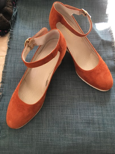 Sundance Ankle Strap Suede Nearly New rust Wedges Image 5
