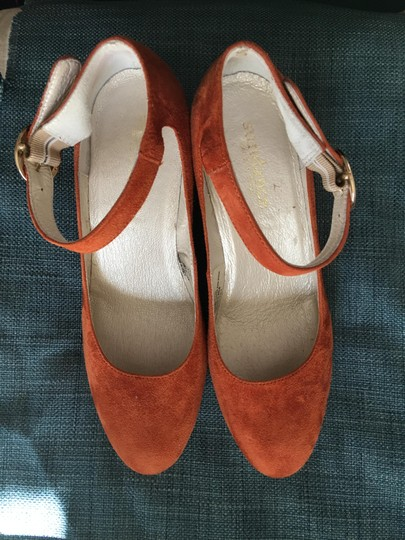 Sundance Ankle Strap Suede Nearly New rust Wedges Image 6