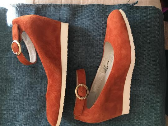 Sundance Ankle Strap Suede Nearly New rust Wedges Image 7