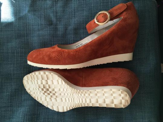 Sundance Ankle Strap Suede Nearly New rust Wedges Image 8