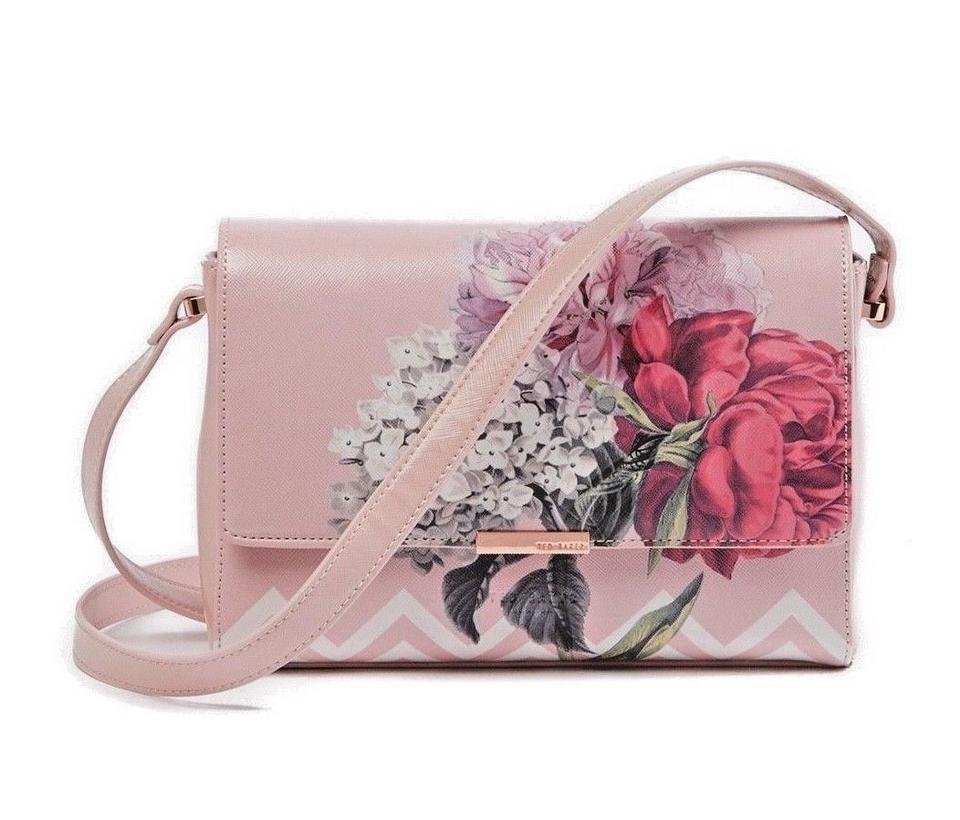 8613f095e Ted Baker Flap Front Dusky Magnetic Closure Palace Gardens Cross Body Bag  Image 0 ...