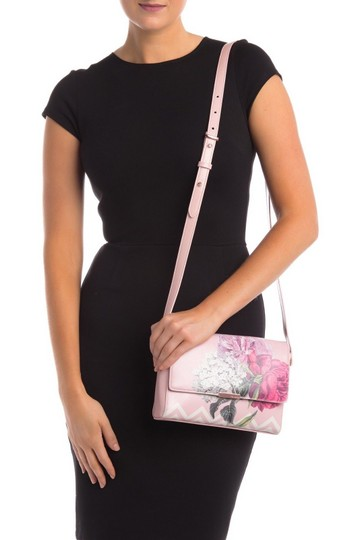 Ted Baker Flap Front Dusky Magnetic Closure Palace Gardens Cross Body Bag Image 3