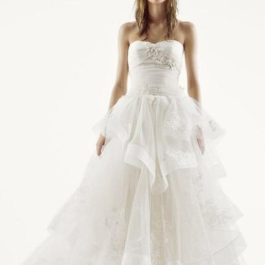 Vera Wang Bridal Ivory Tulle Ball Gown Princess For The Day Traditional Wedding Dress Size 16 (XL, Plus 0x) Image 1