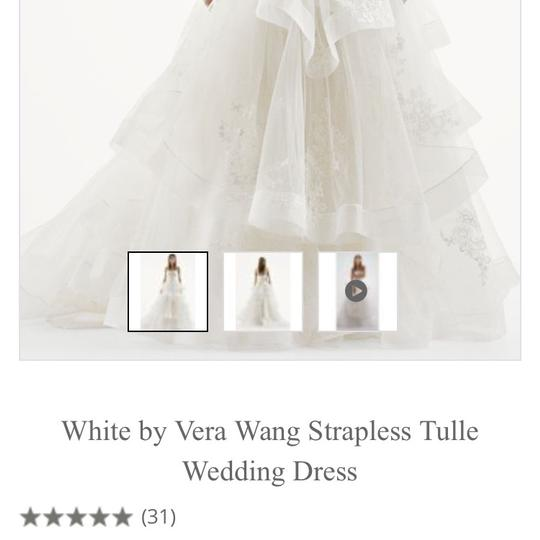 Vera Wang Bridal Ivory Tulle Ball Gown Princess For The Day Traditional Wedding Dress Size 16 (XL, Plus 0x) Image 3