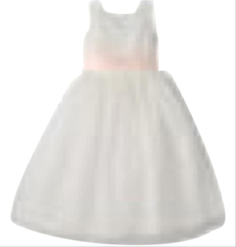 bed7810cf US Angels White/Pink Girls Organza with Blush Sash Mid-length Formal ...