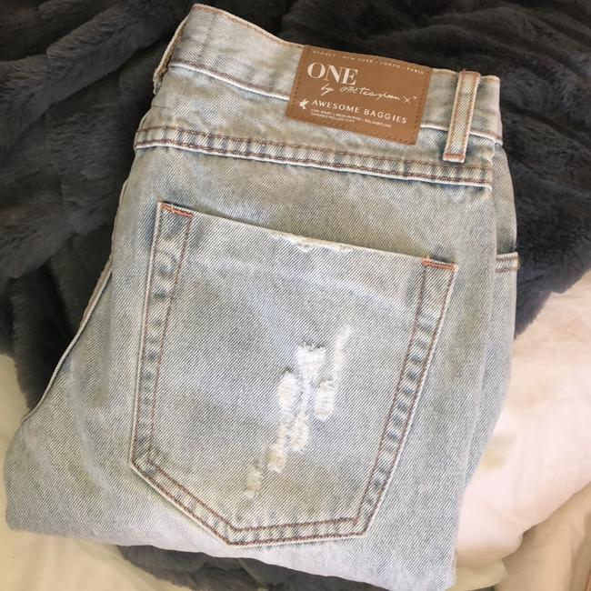 One Teaspoon Relaxed Fit Jeans-Light Wash Image 1