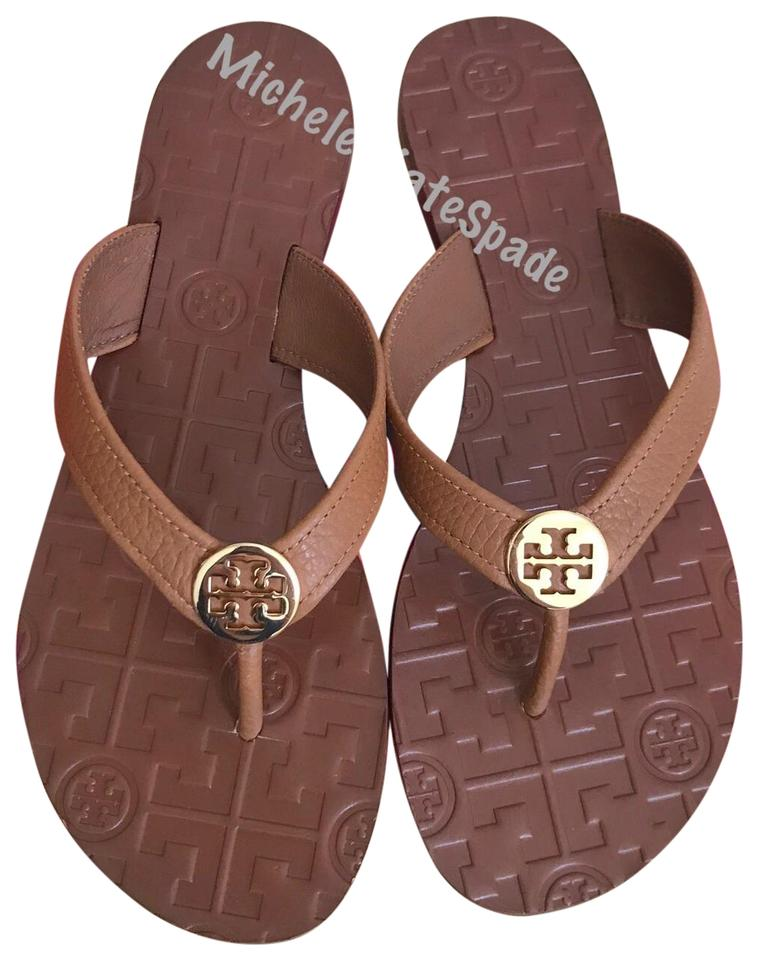 55b782241190 Tory Burch Thora Thong Leather Sandals Size US 8 Regular (M