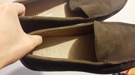 Polo Ralph Lauren Mens Suede Loafers brown Flats Image 1