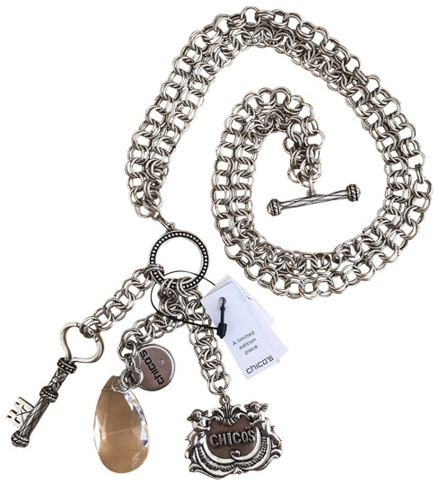 Preload https://img-static.tradesy.com/item/24296311/chico-s-silver-limited-edition-35th-anniversary-charm-necklace-0-3-540-540.jpg