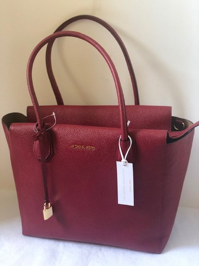 Michael Kors Satchel in Cherry Image 3
