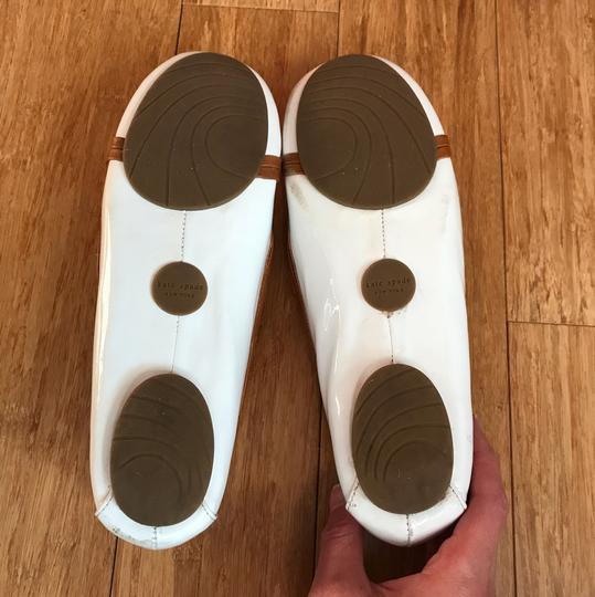 Kate Spade white with tan detail Flats Image 4
