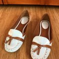 Kate Spade white with tan detail Flats Image 9