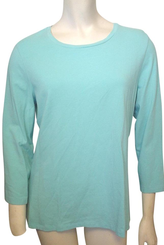 83269f321855 Chico s Aqua The Ultimate Blue 3 4 Sleeve Casual M Mix Match Tee Shirt. Size   8 ...