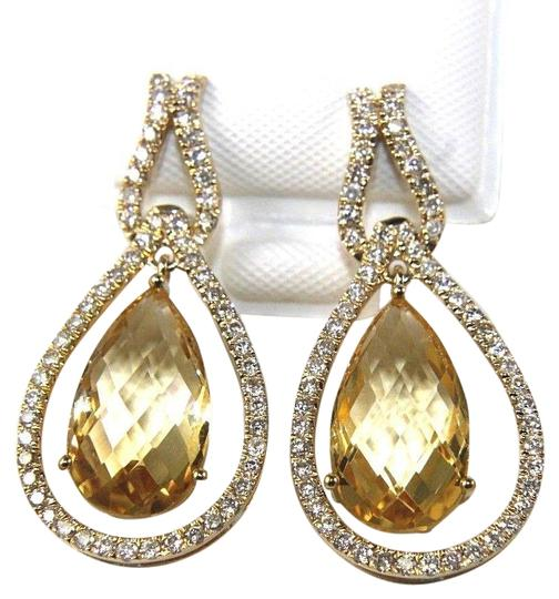 Preload https://img-static.tradesy.com/item/24296406/orange-and-gold-pear-shape-citrine-diamond-drop-dangle-14k-yg-796ct-earrings-0-1-540-540.jpg