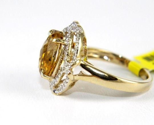 Other Oval Orange Citrine & Diamond Solitaire Ring 14k Yellow Gold .87Ct Image 1