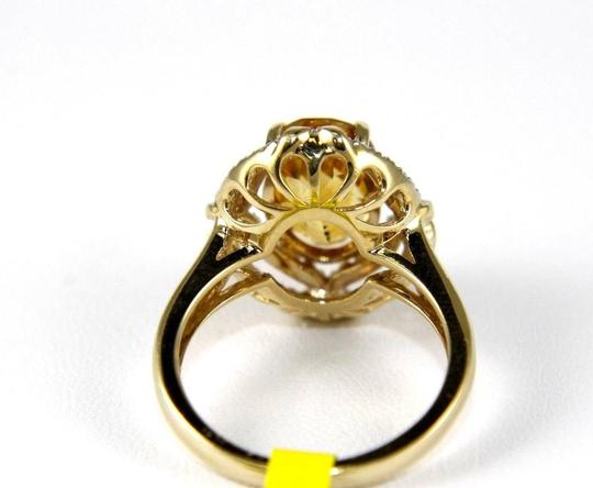 Other Oval Orange Citrine & Diamond Solitaire Ring 14k Yellow Gold .87Ct Image 2