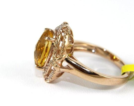 Other Oval Orange Citrine & Diamond Solitaire Ring 14k Rose Gold 3.54Ct Image 1