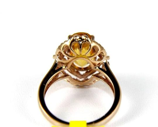 Other Oval Orange Citrine & Diamond Solitaire Ring 14k Rose Gold 3.54Ct Image 2