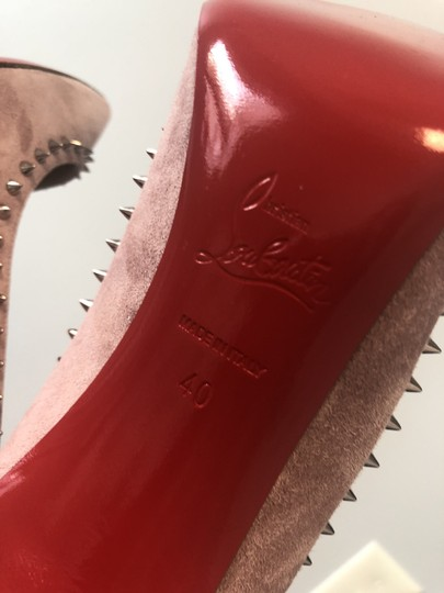 Christian Louboutin Spikes Anjalina 85mm Classic Spike Pink Pumps Image 11