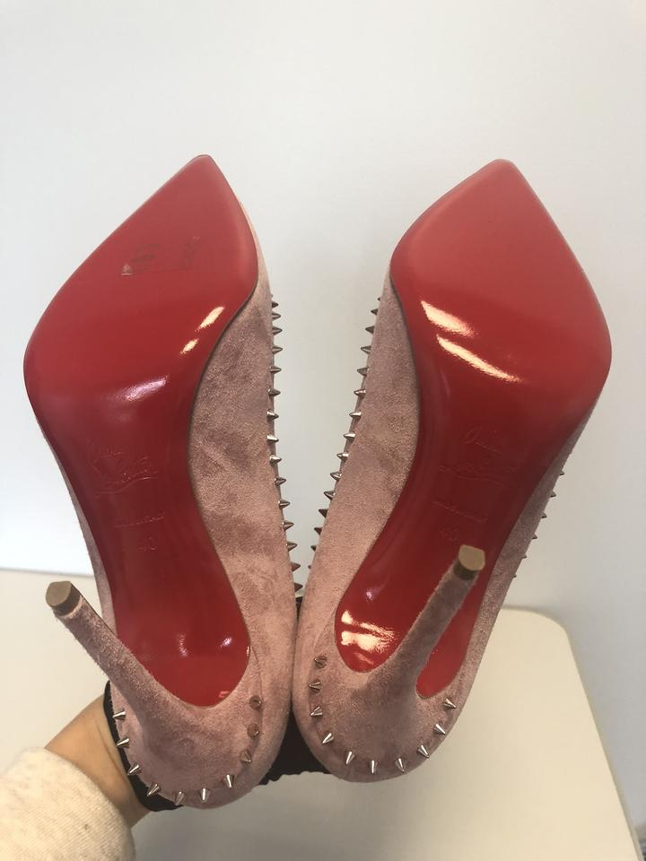 944b0a01a94 Christian Louboutin Pink Classic Anjalina 100mm Suede Leather Spiked  Point-toe Pumps Size EU 40 (Approx. US 10) Regular (M, B)