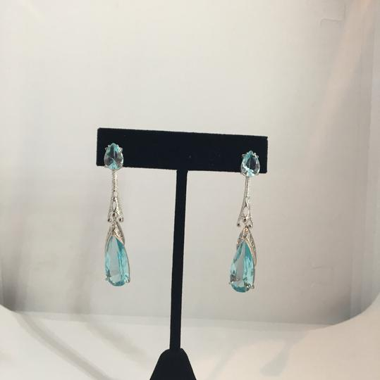 Other Silver & Aquamarine looking Earrings Image 1